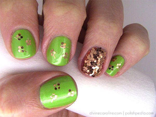 Lucky You Shamrock Inspired Nail Art For St Patricks Day