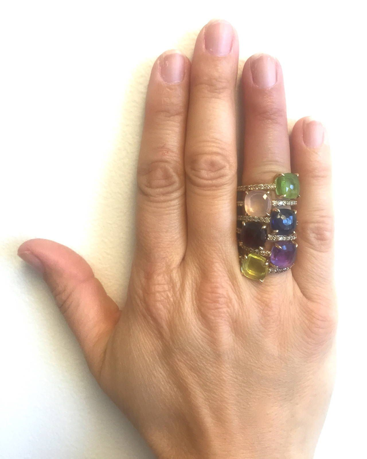 Pomellato Baby Peridot Diamond Gold Ring | Pomellato, Peridot and ...