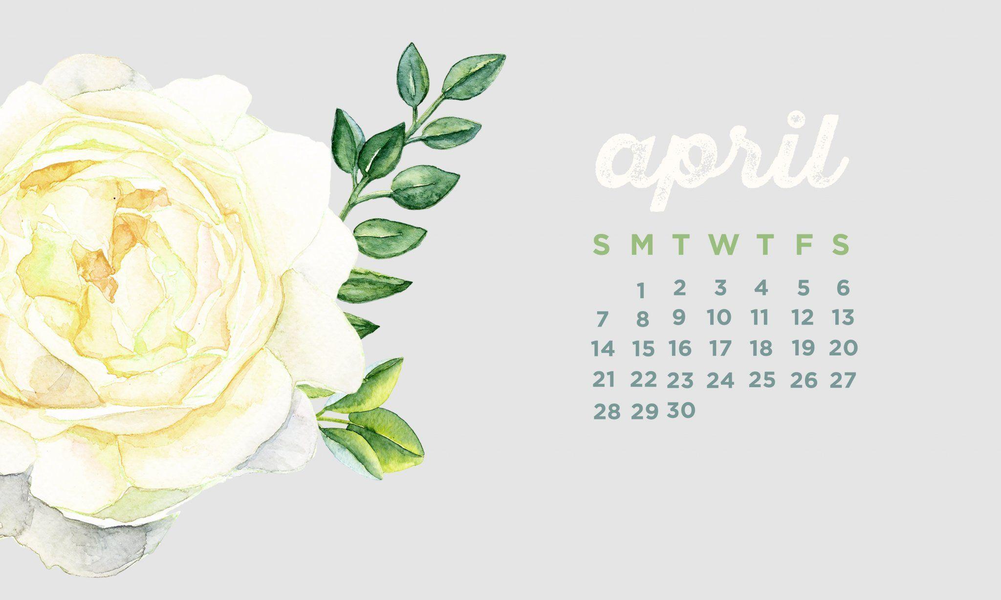 April 2019 Desktop Calendar Wallpaper Desktop Calendar Calendar