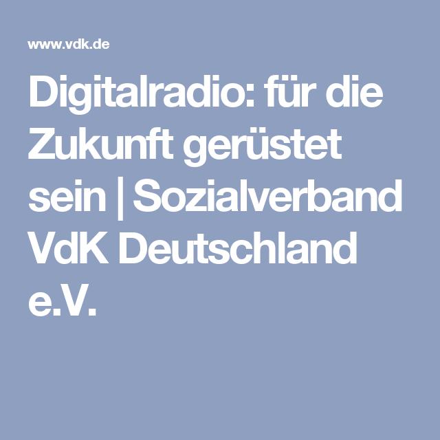 Digitalradio: für die Zukunft gerüstet sein | Sozialverband VdK Deutschland e.V.