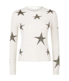 View the Fisherman Ribbed Intarsia Star Cashmere Sweater