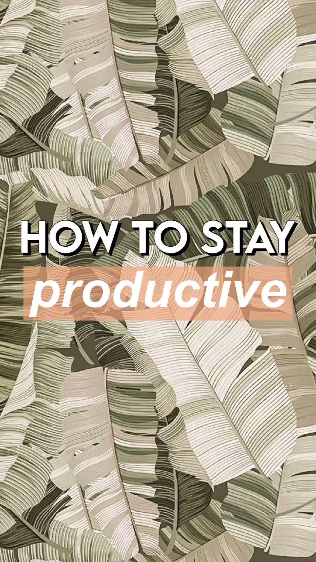 how to stay productive ☆