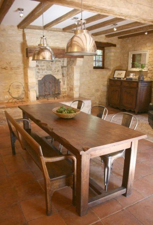 Esstische Im Landhausstil Mit Stühlen Fürs Esszimmer   Rustikale Esstische  Hell Holz Holz Sitzbank