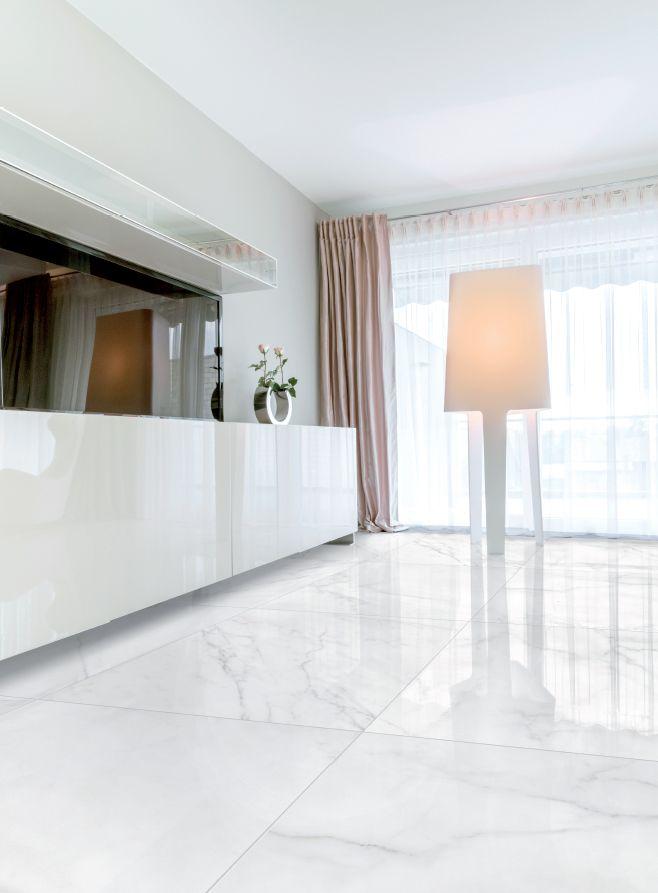 Verona White Glossy 600x600 Pisos Para Sala Comedor Piso Interiores Piso Moderna