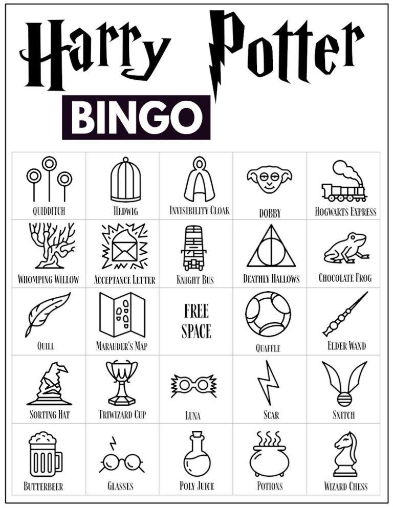 Free Printable Harry Potter Bingo Game | Paper Trail ...
