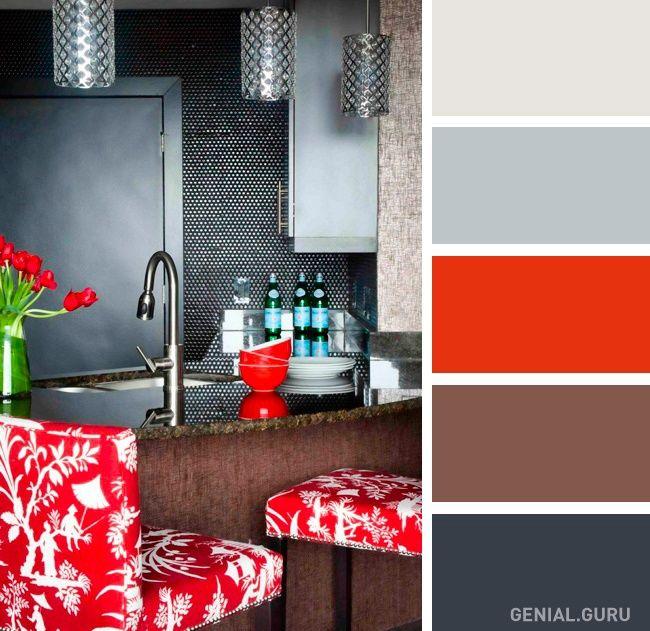 20 Perfectas Combinaciones De Colores Para Tu Cocina Colores De Interiores Habitación En Rojo Y Gris Paletas De Colores Grises