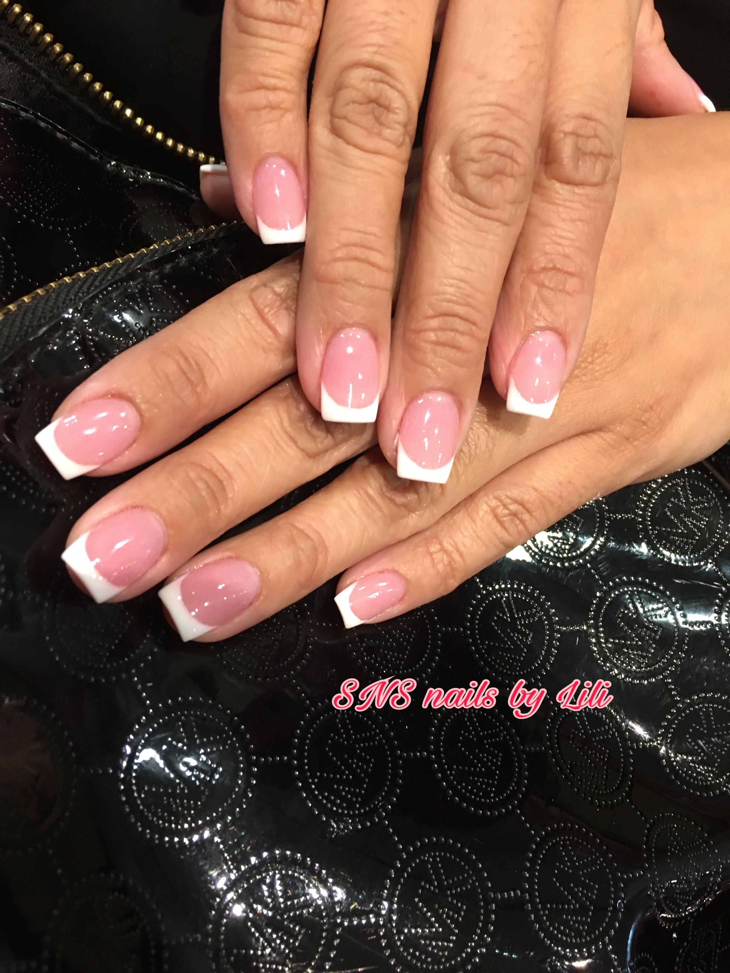 SNS nails French tips ! | Nails | Pinterest | Sns nails, Nail french ...