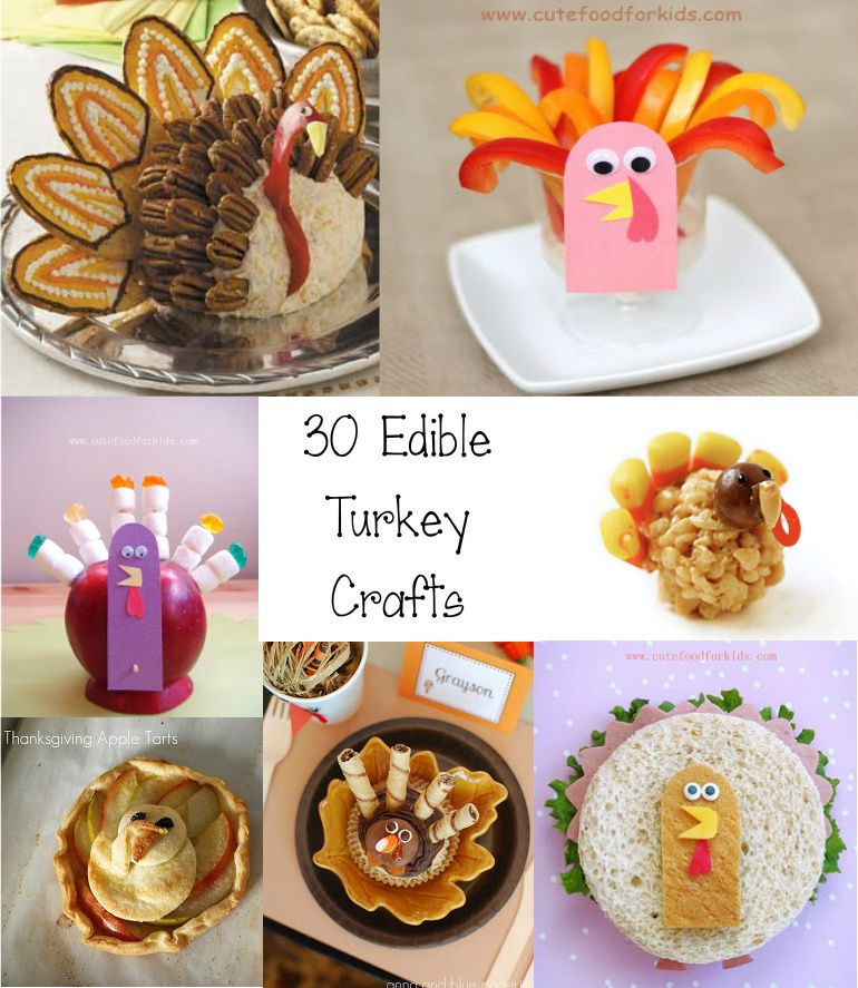 Ordinary Edible Crafts For Kids To Make Part - 7: Cute Food For Kids?: 30 Edible Turkey Craft Ideas For Tanksgiving