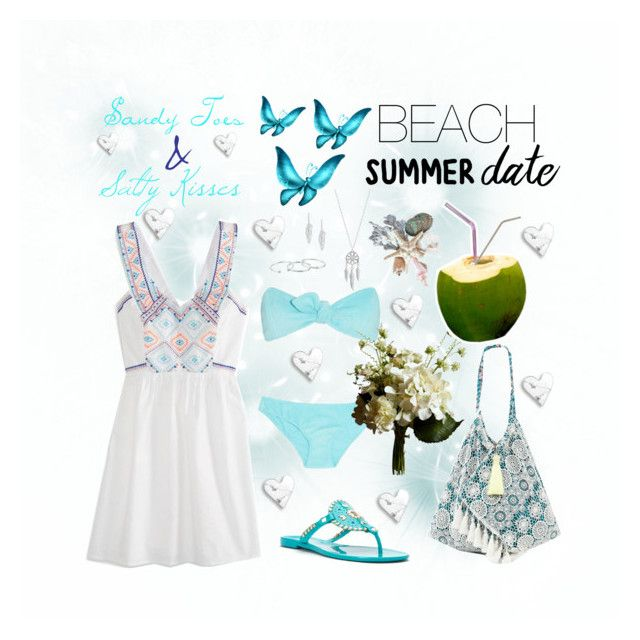 """""""Summer Date to the Beach"""" by whims-and-craze on Polyvore featuring American Eagle Outfitters, Lisa Marie Fernandez, Abigail Ahern, Jack Rogers, 6 Shore Road, Lucky Brand, Steve Madden, Gorjana, beach and summerdate"""