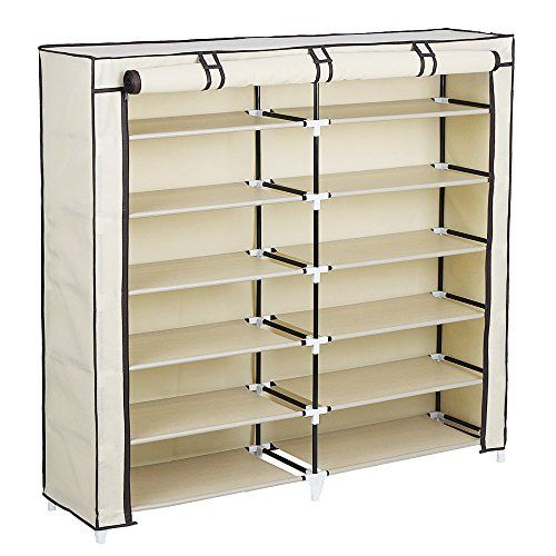 Shoe Racks And Organizers Alluring Songmics 7Tier Portable Shoe Rack Organizer 36Pair Shoe Storage Inspiration