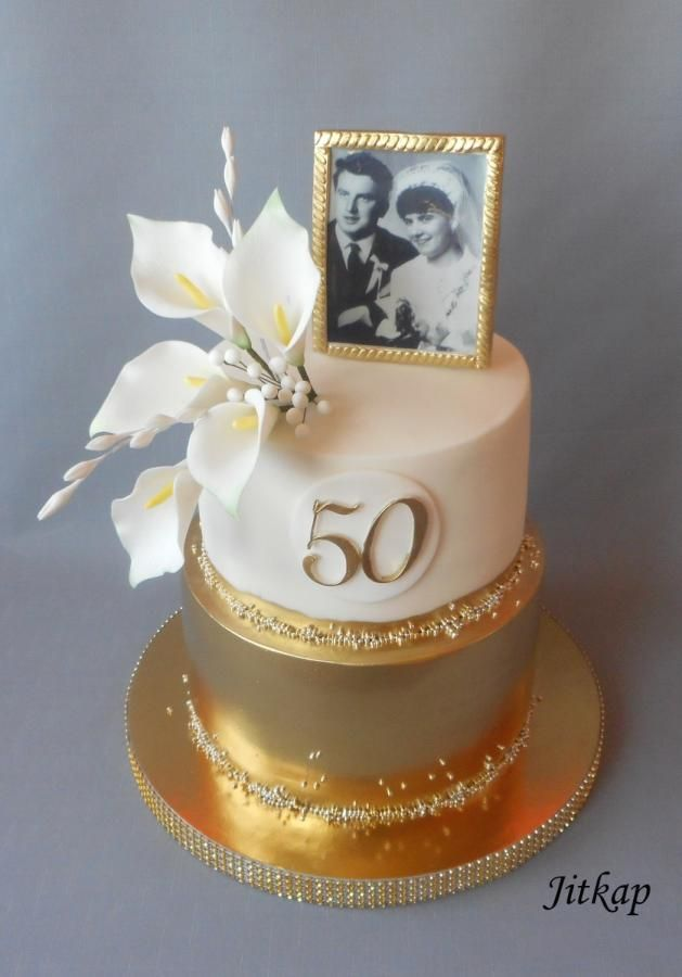 Golden Wedding Cake Cake By Jitkap Birthday Cakes In
