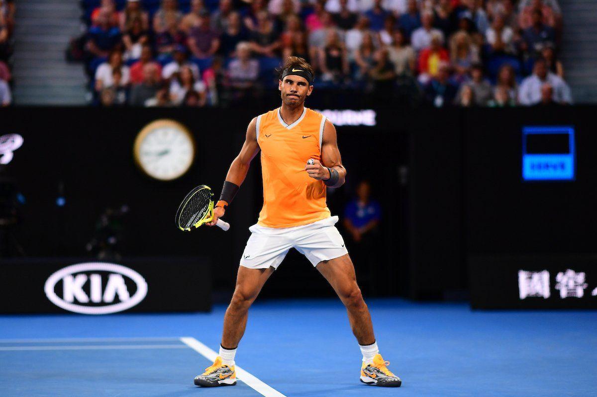204fbc2447f Rafael nadal racquet babolat pure aero tennis racquet australia open abs  shortsleeves outfit nike jpg 1200x799