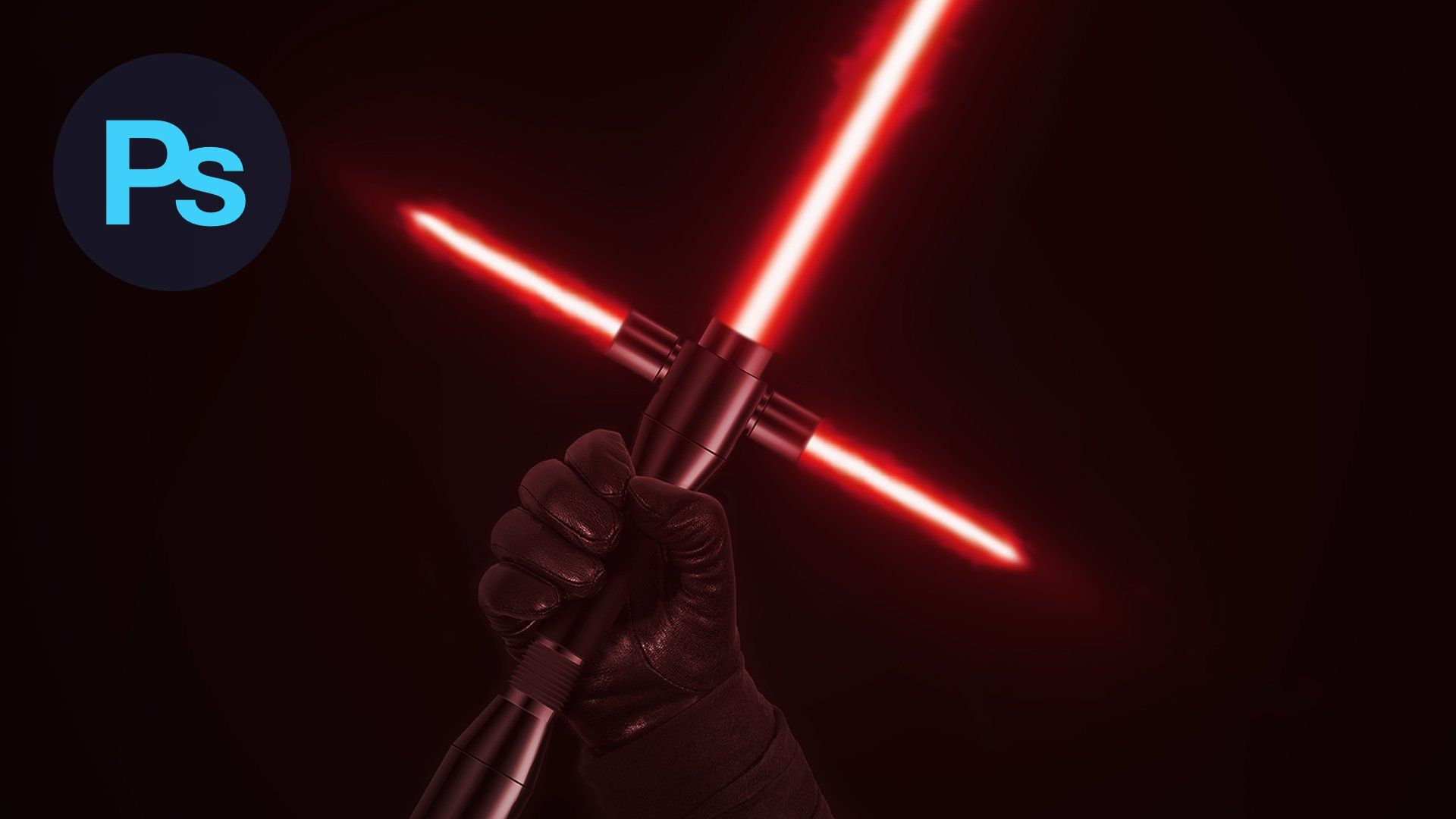 Realistic Lightsaber Effect In Photoshop Realistic Lightsaber Photoshop Photoshop Tutorial