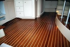 Teak Holly Sole Boat Cabin Floor