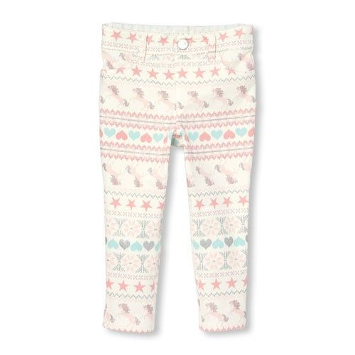 0507dd96bcb35 Baby And Toddler Girls Glitter Printed Knit Jeggings | Products in ...