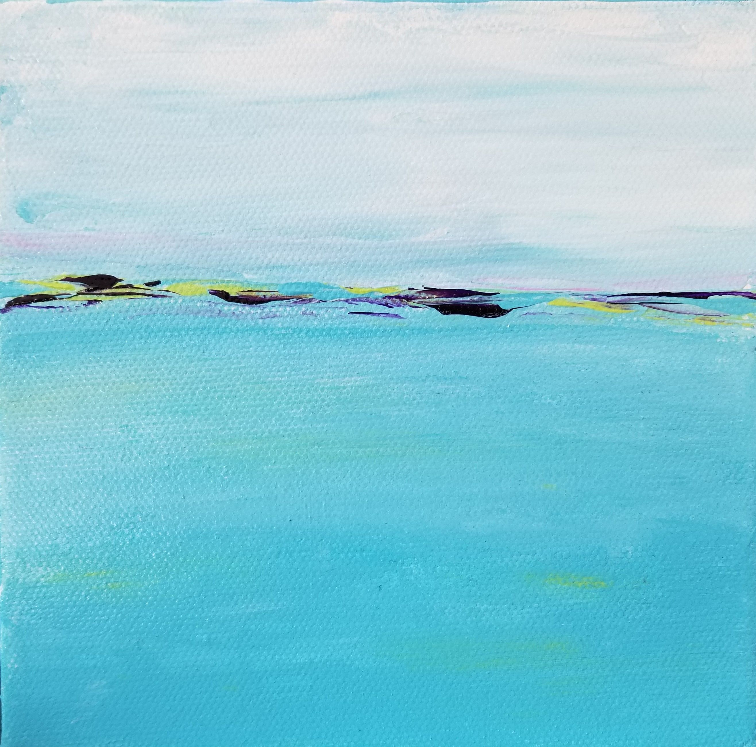 Abstract Ocean Painting Melinda Driscoll