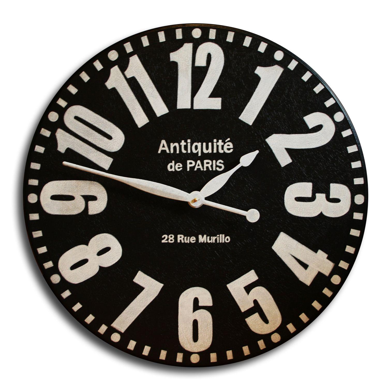 Black Paris Antique Large Wall Clock Wall Clock Clock