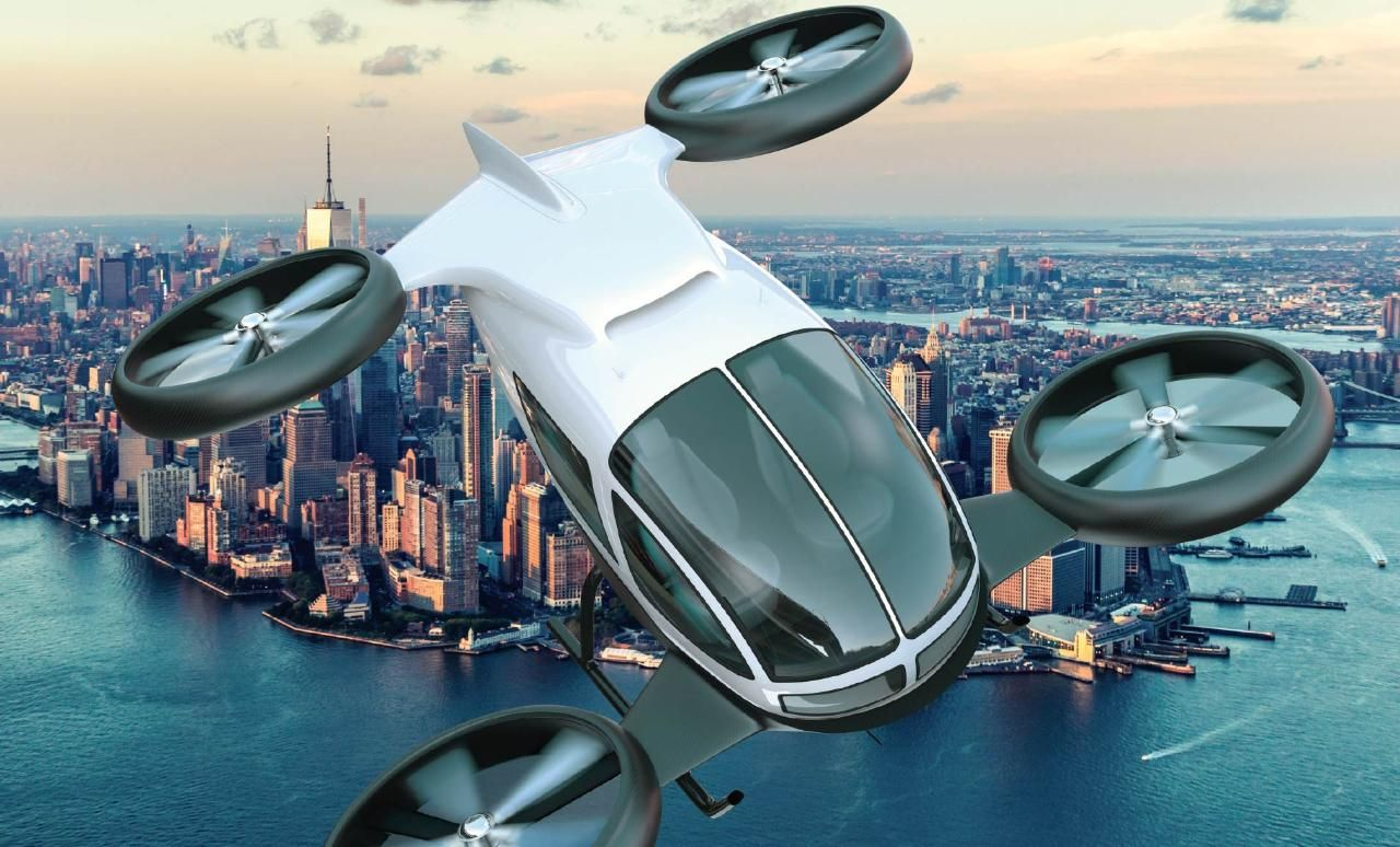 Passenger drones ready for takeoff Aircraft design