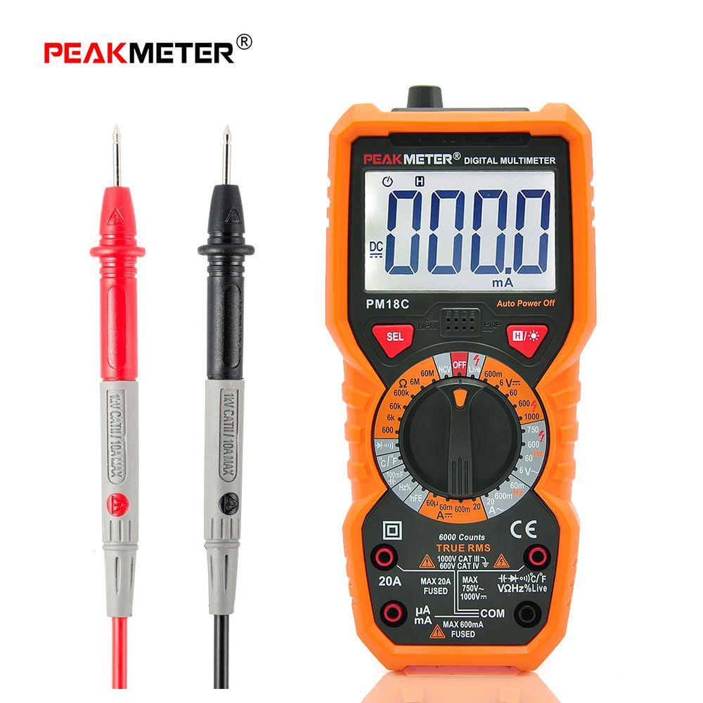 Peakmeter Pm18c Multimtre Numrique Multimtres Tester Profissional A830l Digital Lcd Multimeter Voltmeter Ammeter Ohm Ac Dc Circuit Volt Tension Capacit Frquence Temprature Hfe Pci Ligne Testeur Instrumentsline