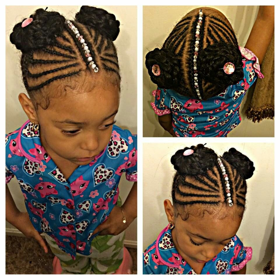 Courtesy Of Facebook Friend Beads Were Sewn On Afterwards Using African Thread Little Girl Braids Toddler Hair Kids Hairstyles