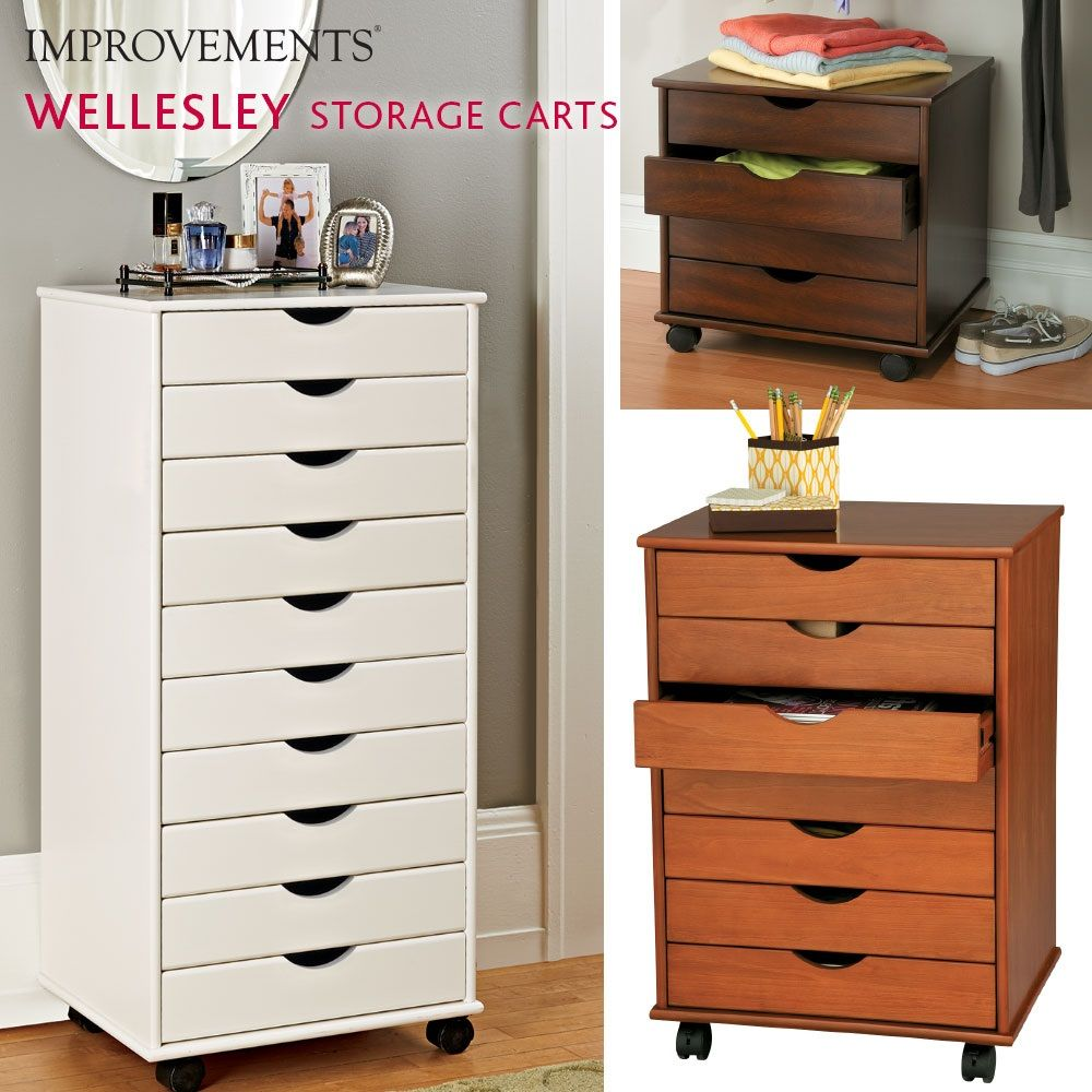 Wellesley Rolling Storage Cart can be used in just about any room ...