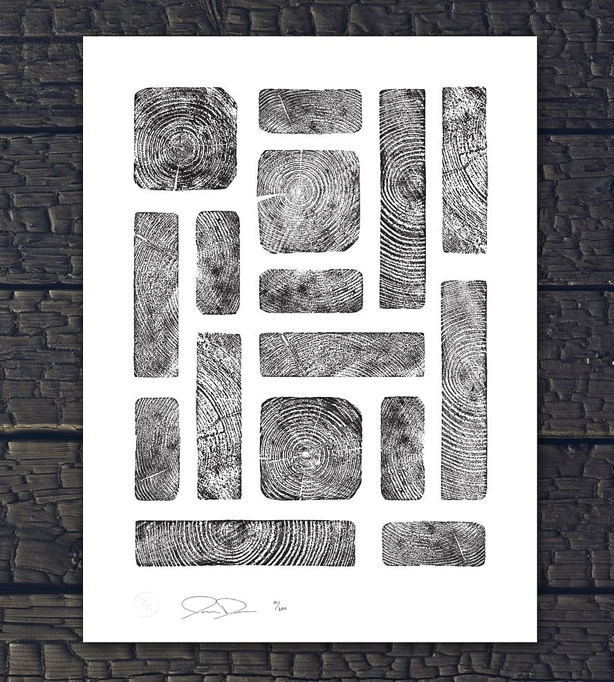 Wood Grain Rectangles Print With Images