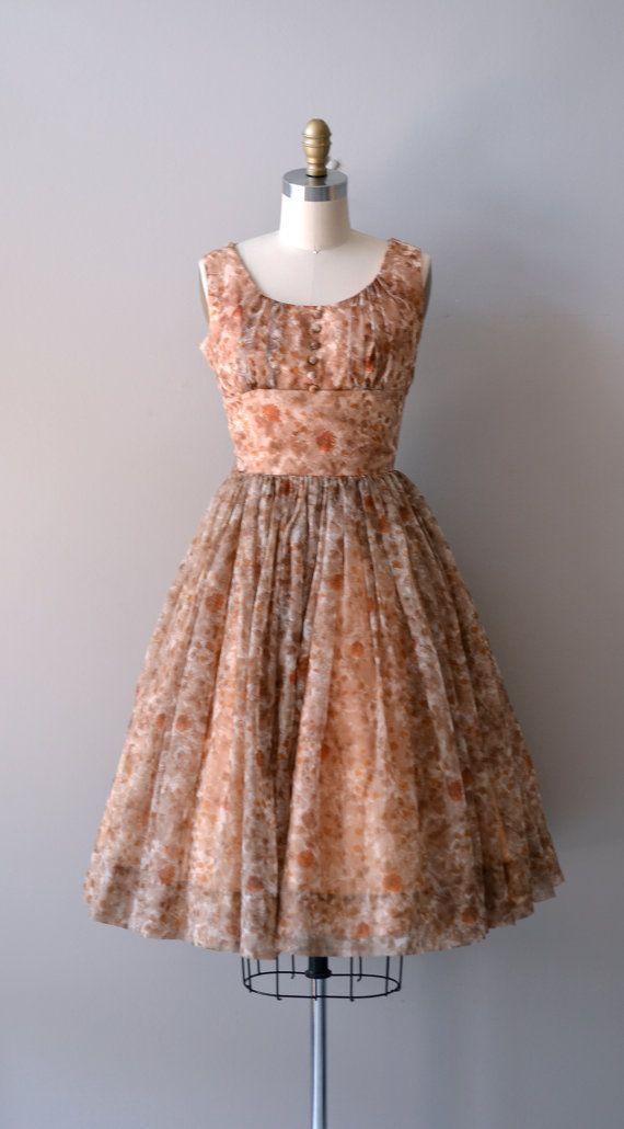 1950s chiffon dress