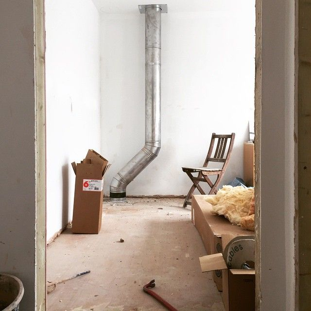 internal #twinwall #chimney before boxing in | Twin wall flue for ...