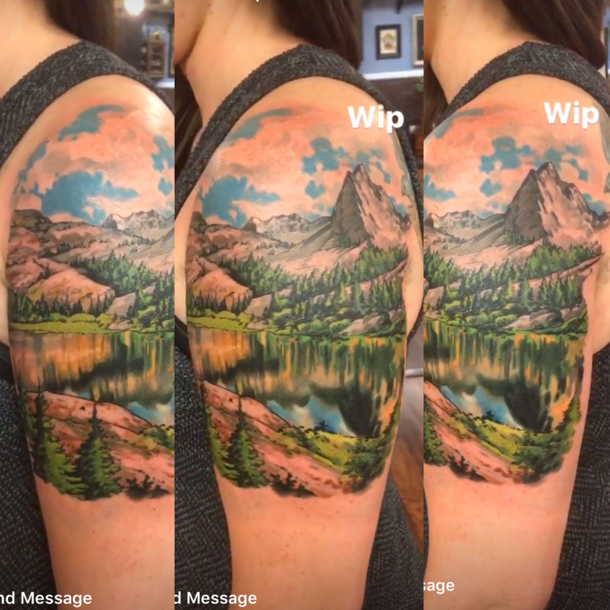my tattoo utah mountains tattoo tattoo trees mountains lake utah trail hiking tattoo. Black Bedroom Furniture Sets. Home Design Ideas