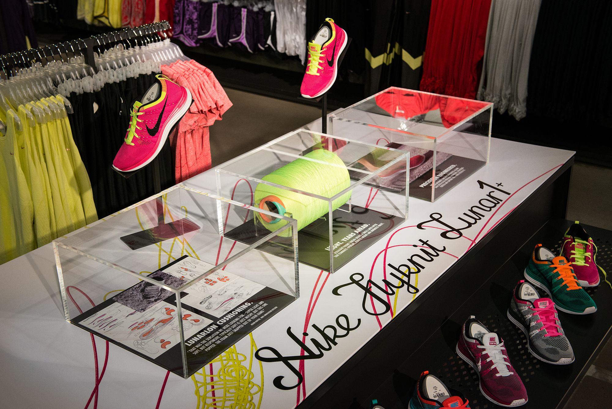 Nike   Flyknit by Millington Associates   #retail #flyknit #visualmerchandising #interior
