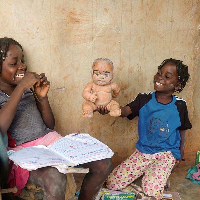 We hope everyone is smiling as much as these two this weekend. 😊👼🏾👼🏾 #kailend #vogan #orphanage #children #kids #smile #homework #schoolgirls #weekend #fun #happy #toys #ngo #volunteer #shewill #heforshe #wwhvolunteer #volunteerworld #globalgoals #nextgen #togo #education #socent #whatireallyreallywant #childrenfirst