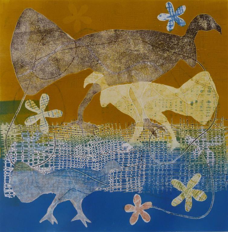 2014 Scrub Turkey Monoprints - Sandra Pearce