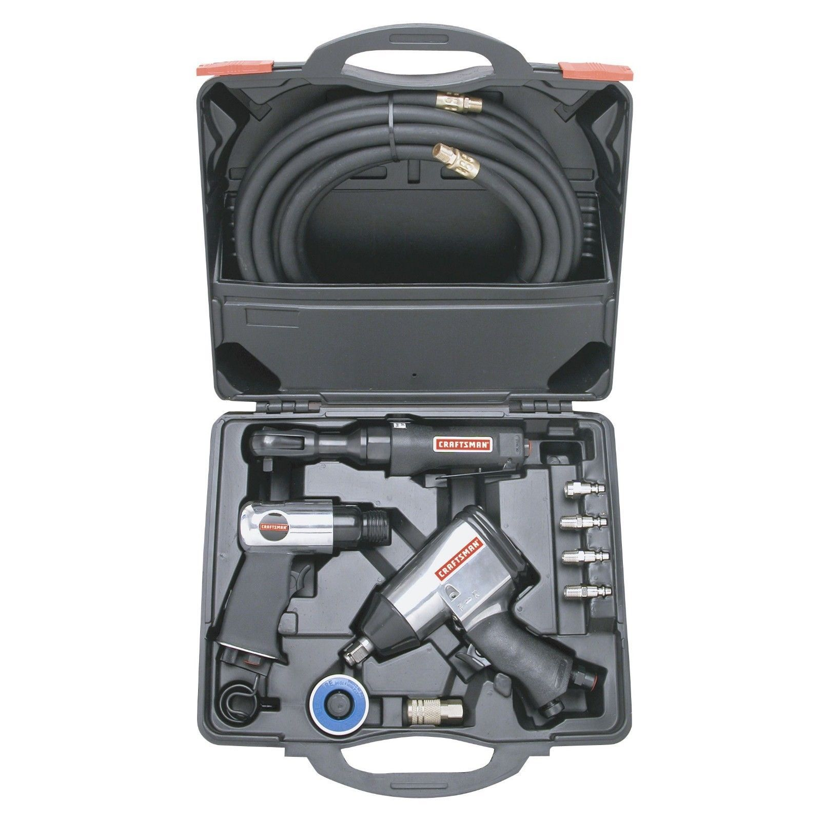 Craftsman 10 Pc Air Tool Set High Torque Impact Wrench Ratchet Hammer Hose In Home Garden Tools Ebay