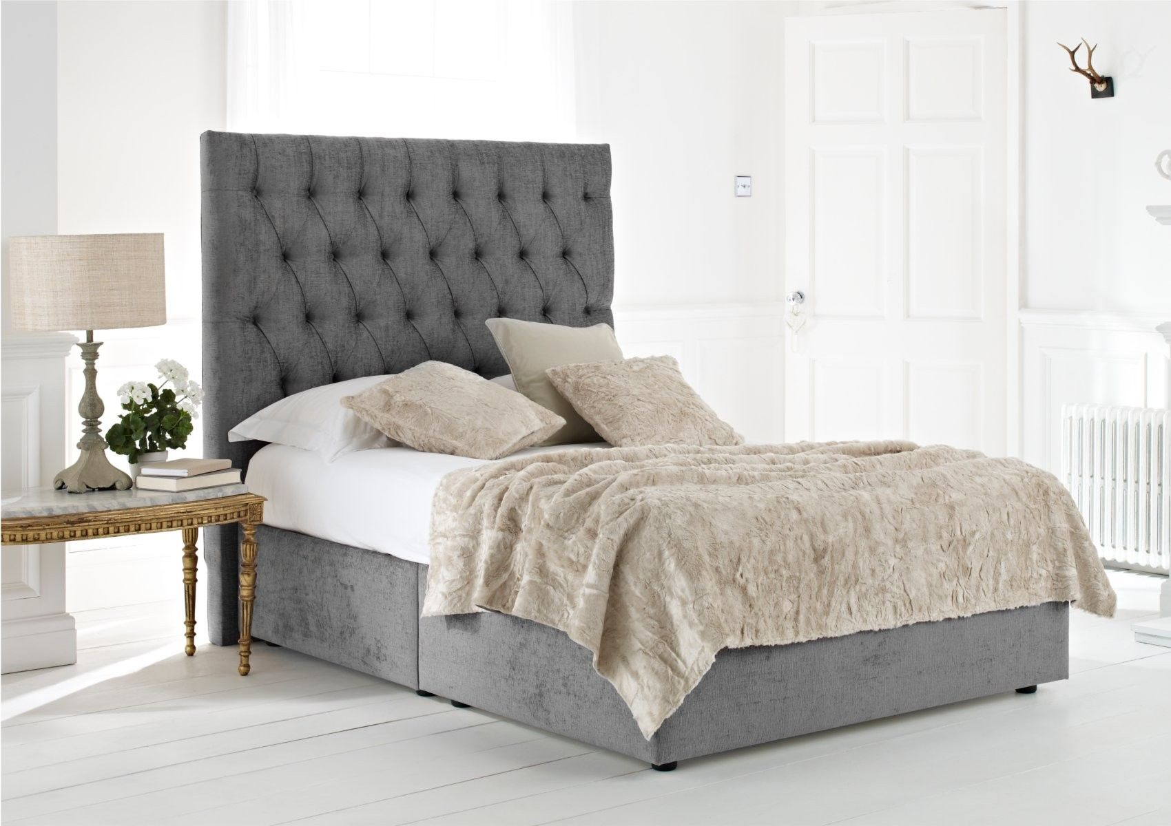 Kensington Upholstered Divan Base and Headboard Bed