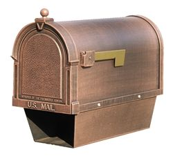 Berkshire Cast Aluminum Curbside Mailbox with Paper Tube