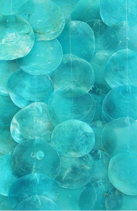 Driftwood Turquoise Capiz Shell Wind Chimes Farbe Blau Turkis