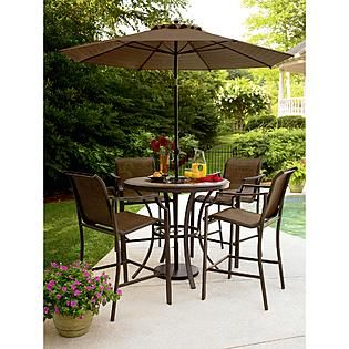 Bar Height Patio Sets Add Sparkle And Style To Your Outdoors With The Exquisite Cooper Lighted High Table Patio Patio Dining Set Patio Furniture
