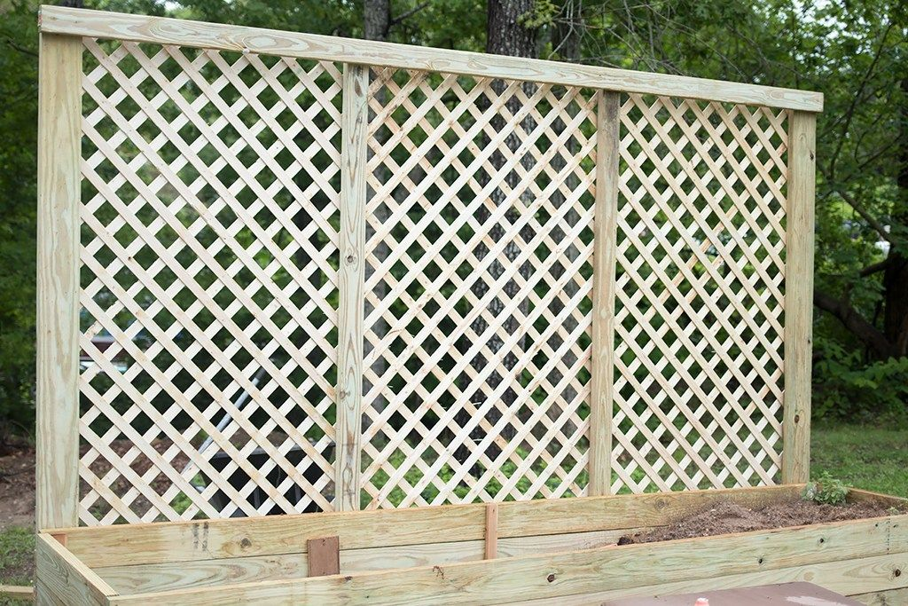 Privacy Screen Planter DIY - Gina Michele