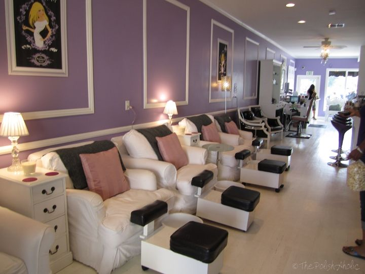 An Afternoon At The Painted Nail With Images Nail Salon Design Nail Salon Interior Nail Salon Interior Design