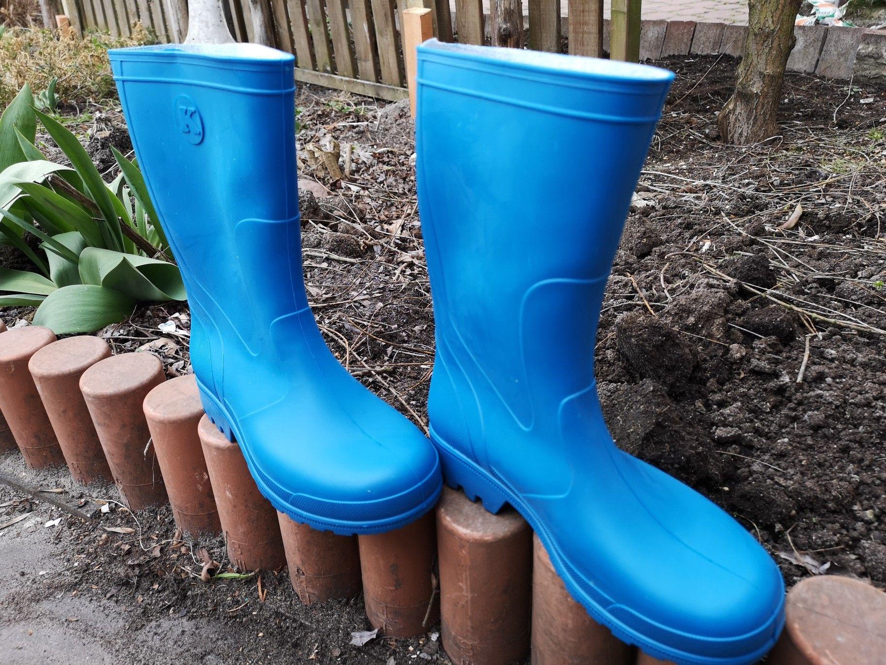Kalosze Damskie Niebieskie Bcolorino Boots Rubber Rain Boots Rain Boots