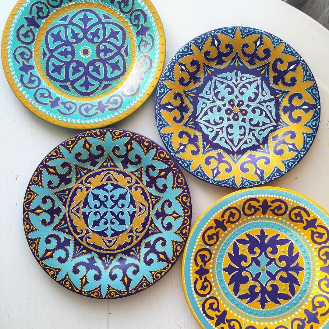картинки тарелок с узорами это обычная мозаика