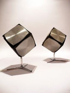 Anonymous; 'Cube' Speakers by Grundig, 1970s.