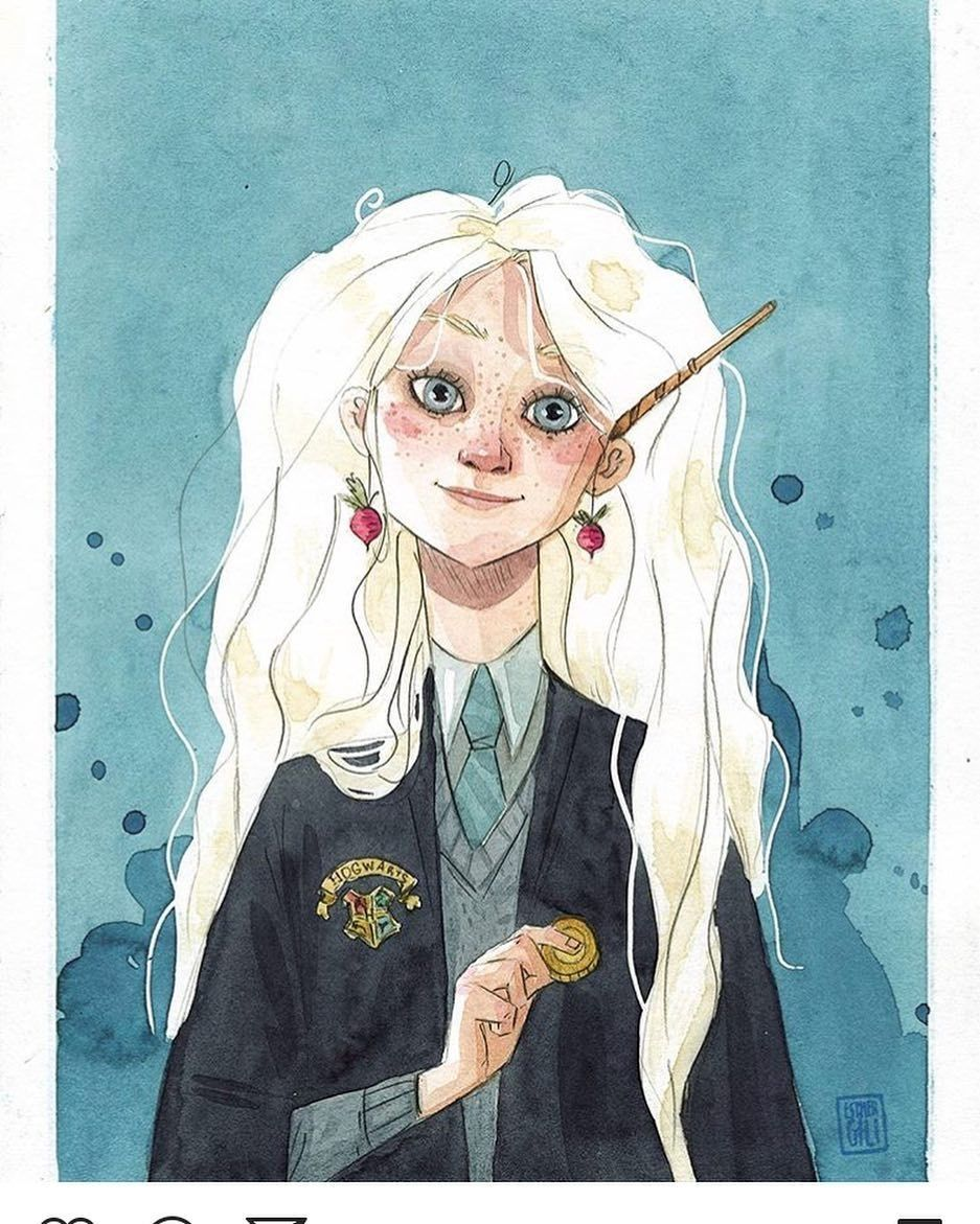 Luna Lovegood Harry Potter Illustrations Harry Potter Art Luna Lovegood Art