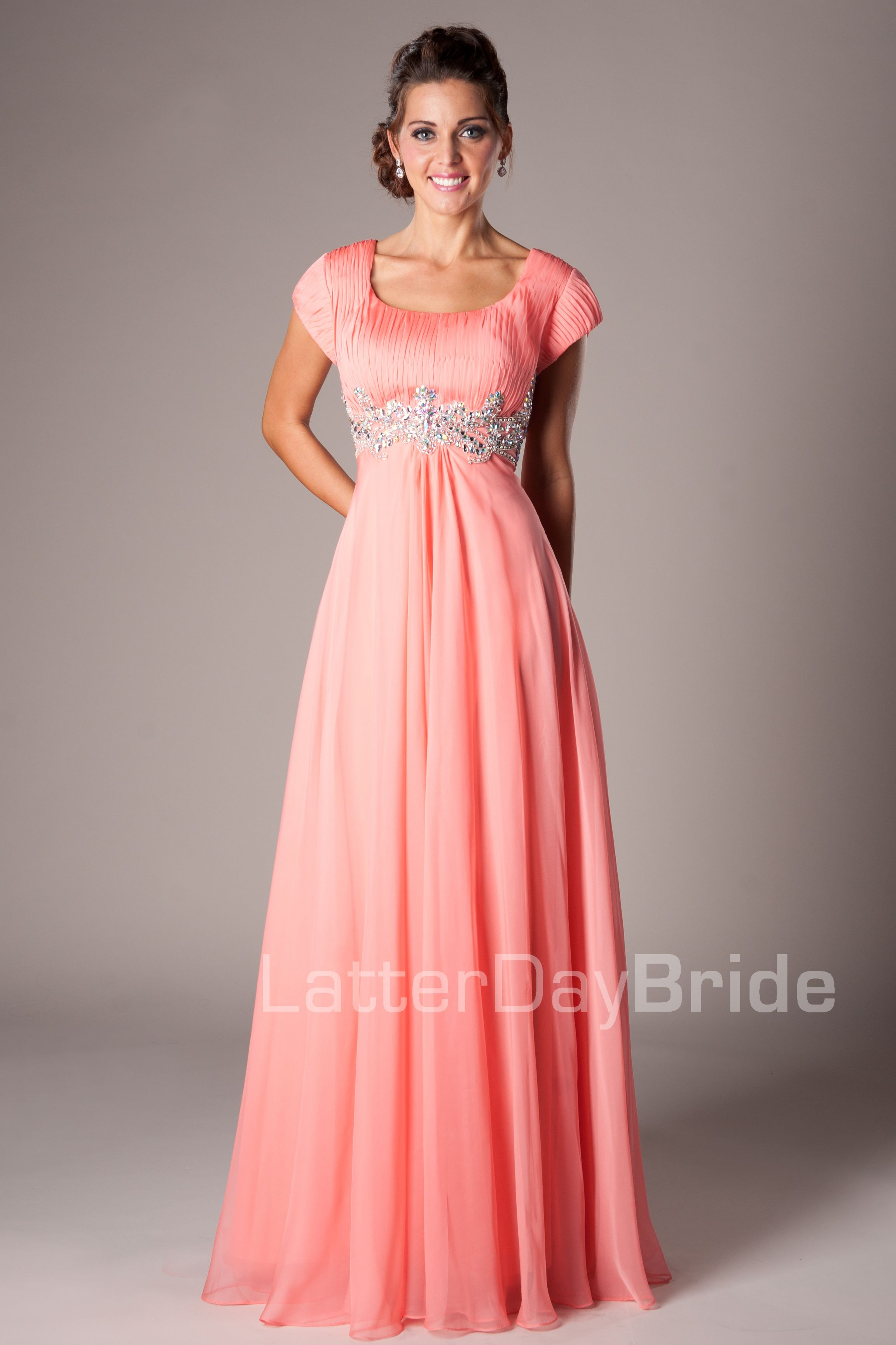 Modest Prom Dresses Prom Homecoming Formal Dance Modest - Melanie ...