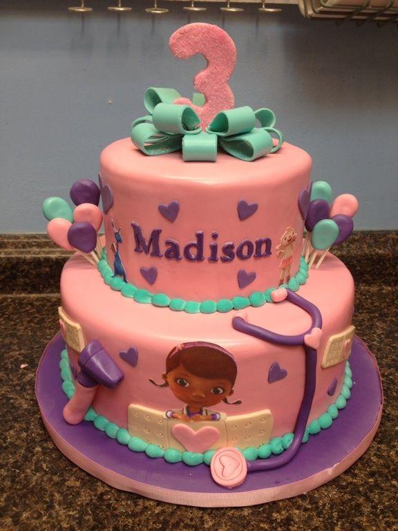 Doc Mcstuffins Birthday Cake Childrens Birthday Cakes Pinterest
