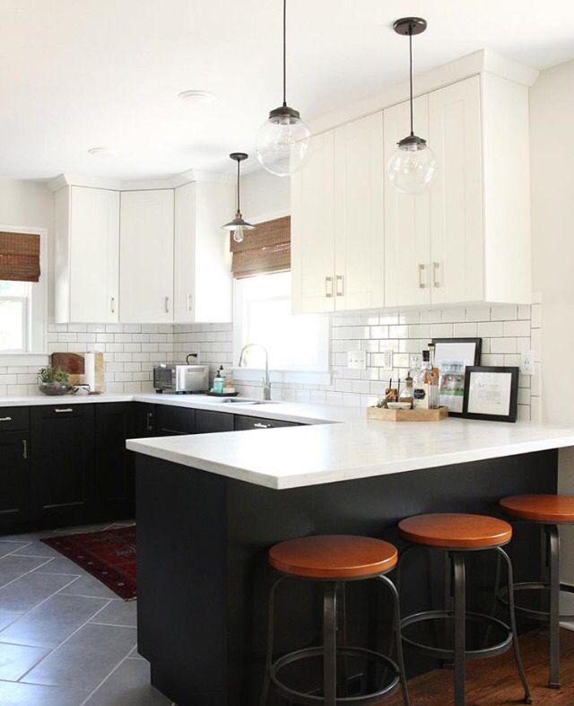 Two Tone Kitchen Cabinets Ikea: Pin By Mesha Fields On Mid Century Modern Kitchen