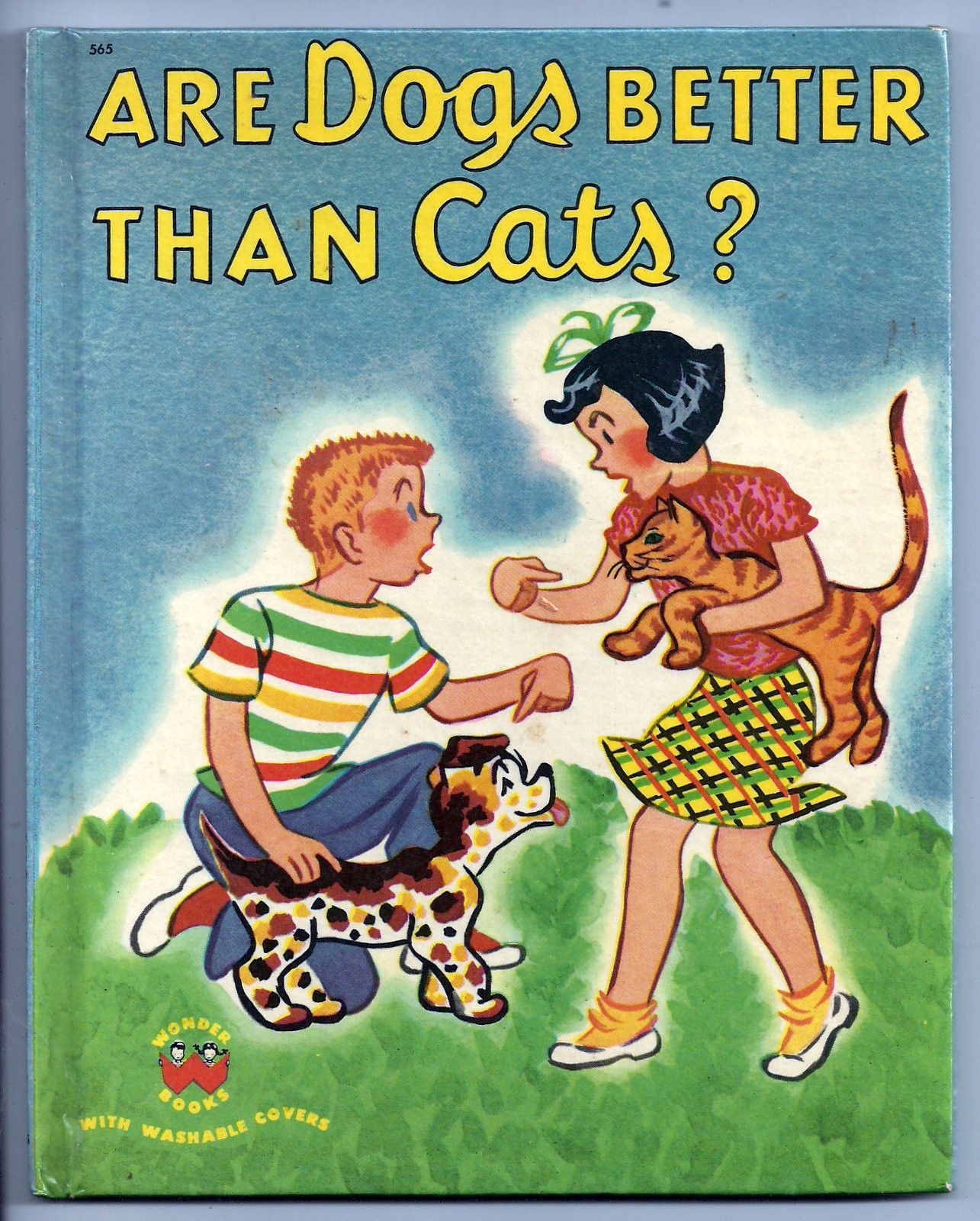 Are dogs better than cats? 1953 Wonder book, Vintage