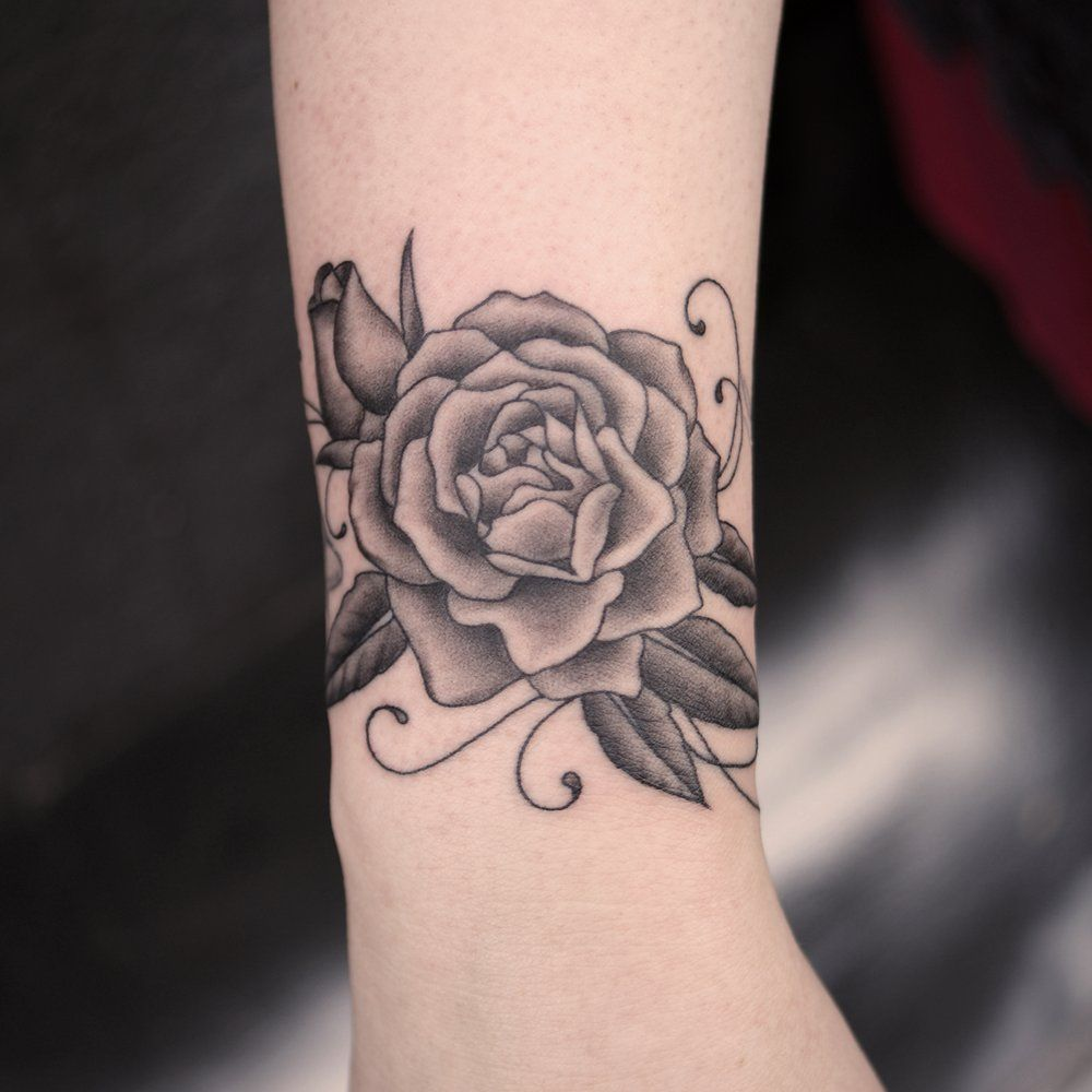 rose tattoo wrist pictures google search flowers pinterest rose tattoos tattoo and. Black Bedroom Furniture Sets. Home Design Ideas