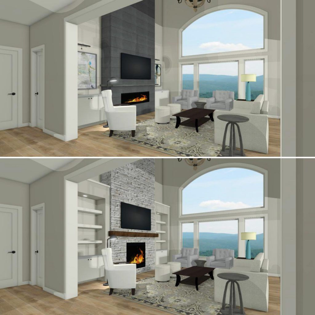 Design Dilemmas How To Design A Great Room Fireplace Wall With