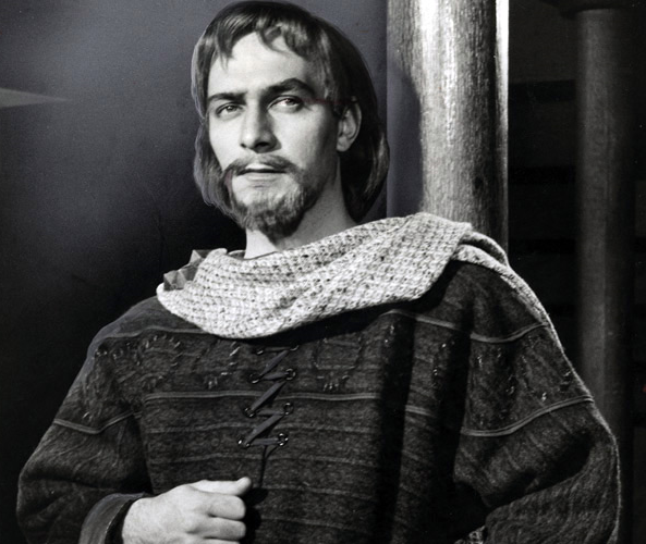 Christopher Plummer in the role of Philip the Bastard in Shakespeare's King John at Stratford in June of 1960.